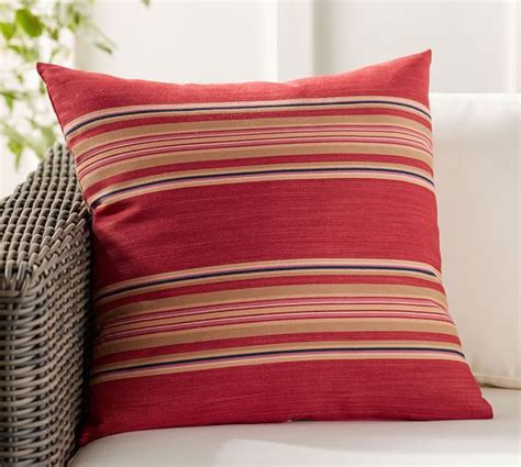 pottery barn outdoor pillows stripe indoor outdoor pillow pottery barn