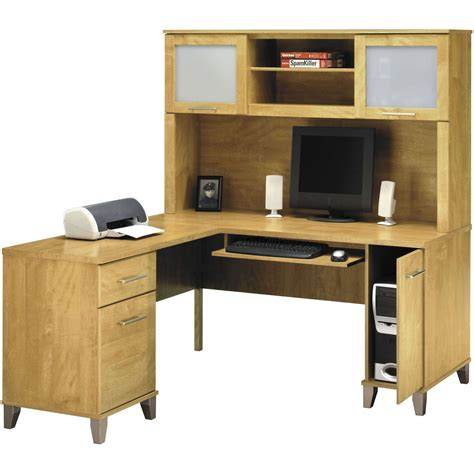 l shaped desk and hutch bush somerset 60 l shaped computer desk and hutch set l