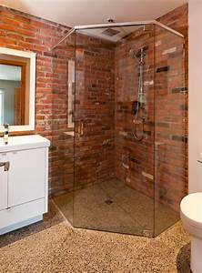 What sealer was use on the brick wall in the shower?