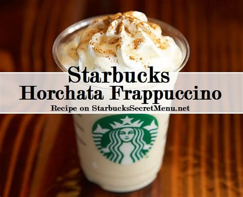 starbucks caffe vanilla light frappuccino blended coffee tall starbucks horchata frappuccino starbucks secret menu
