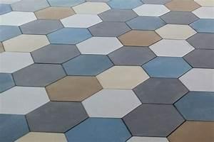 Carrelage Imitation Tomette Hexagonale : stunning patchwork de tomette hexagonale unis en cours de ~ Zukunftsfamilie.com Idées de Décoration