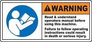 Read  U0026 Understand Manual Label J6402