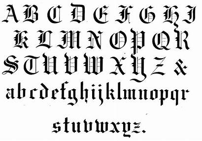 Calligraphy Alphabet Gothic Medieval Fonts Font Letters