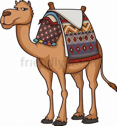 Camel Egyptian Cartoon Clipart Vector Animals Friendlystock