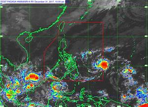 Rainy New Year Seen As Low Pressure Area Threatens To