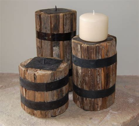 reclaimed wood candle holder reclaimed wood candle holders set of 3 wowpieces