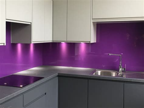 kitchen glass splashback  wow factor   kitchen