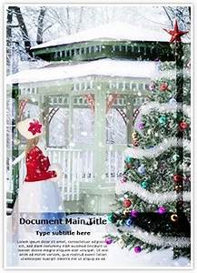 Ms Office Presentation Templates Winter Christmas Background Word Document Template