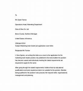 sample resume cover letter template 7 free documents in With cover letter for a team leader position