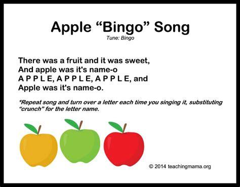 10 autumn songs for preschoolers 893 | Apple Bingo Song