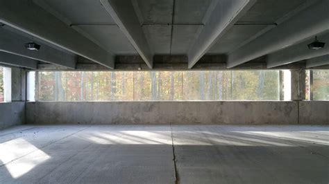 Interior Of Crocker Park Parking Garage With View Of