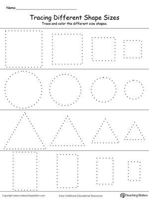 kindergarten shapes printable worksheets