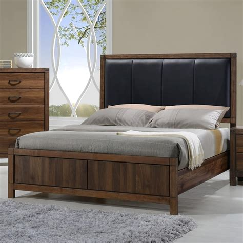 Crown Mark Belmont Queen Bed With Upholstered Headboard  Wayside Furniture  Headboard & Footboard