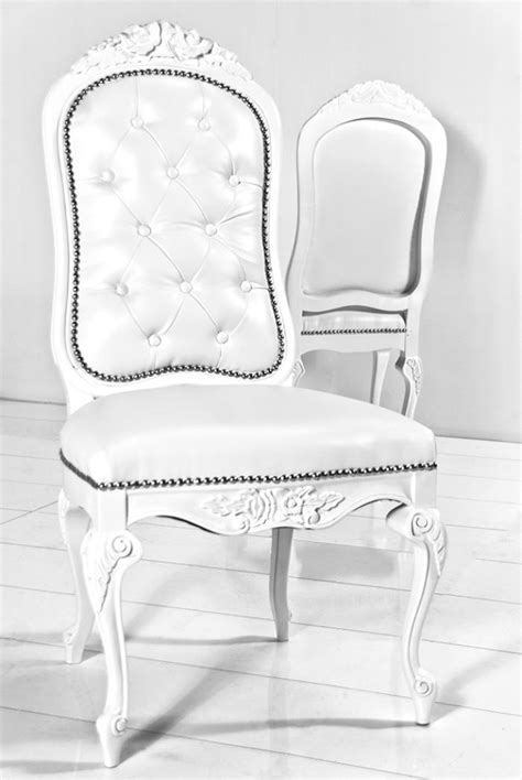wwwroomservicestorecom monte carlo dining chair  white faux leather