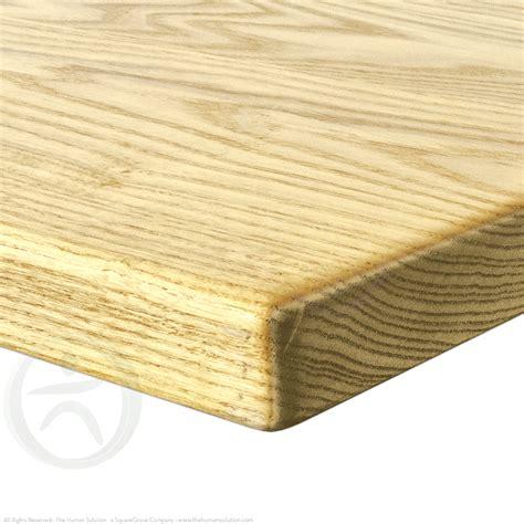 natural wood desk top uplift natural ash solid wood desktop the human solution