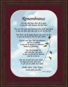 Poems Remembering Loved Ones Lost