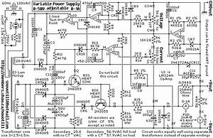 Schematic Diagram  0 50v 1a Laboratory Power Supply