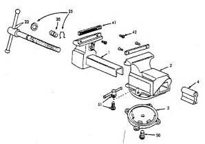 craftsman bench vise unit parts model 51871 sears partsdirect