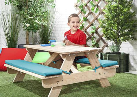 Children's Kids Outdoor Furniture Wood Play Picnic Table