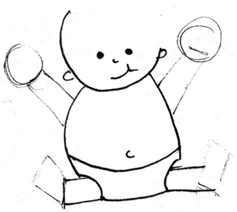 draw cartoon baby  easy drawing lesson  kids