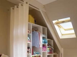 placard pour chambre mansardee survlcom With meuble pour piece mansardee 0 les 25 meilleures idees de la categorie rangement sous