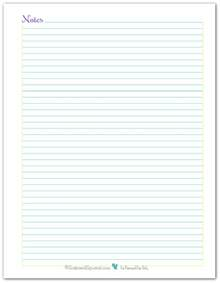 note page and to do list printables reader request