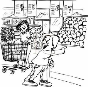 Grocery Black And White Clipart