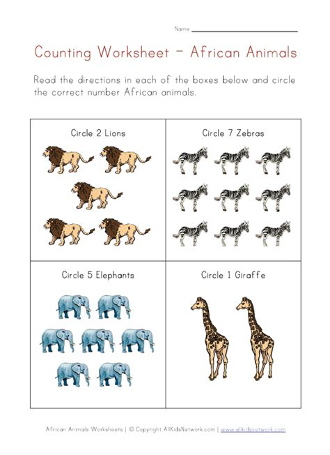 zoo animal math worksheets for preschoolers animals counting printable preschool zoo