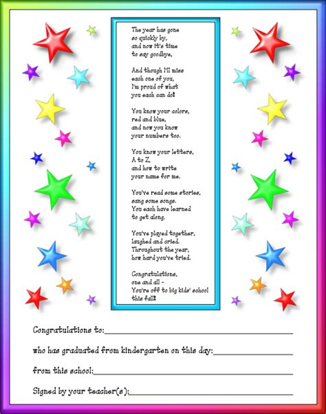what to say at a preschool graduation pre k graduation prek graduation poems 266