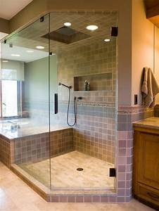 salle de bain avec douche italienne naturelle et relaxante With salle de bain design avec masques à décorer