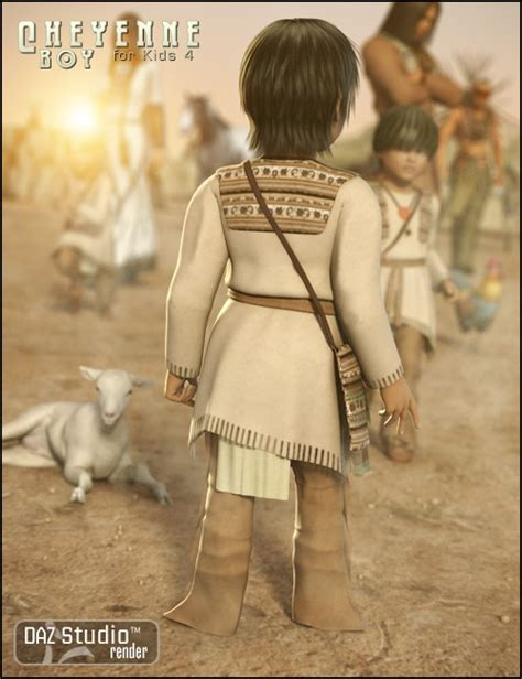 cheyenne boy for 4 uniforms costumes for daz studio and poser