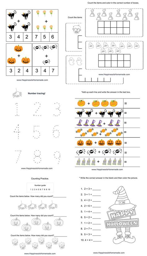 kindergarten halloween math pack happiness  homemade