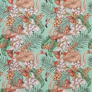 Tissu Imprimé Tropical : tissu flamingo club tissus par diteur osborne little le boudoir des etoffes ~ Teatrodelosmanantiales.com Idées de Décoration