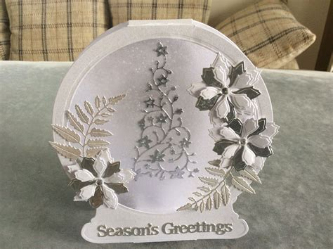 tattered lace snow globe christmas card  images