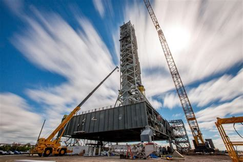 NASA's Mobile Launcher For Its Massive Deep-Space Rocket ...