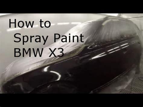 bmw  black saphire spray painting youtube