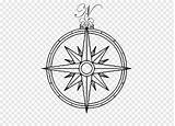 Compass Coloring Ornament Circle Symbol Line Holiday Clip sketch template