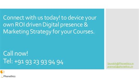 marketing strategy courses digital marketing strategy for education courses india