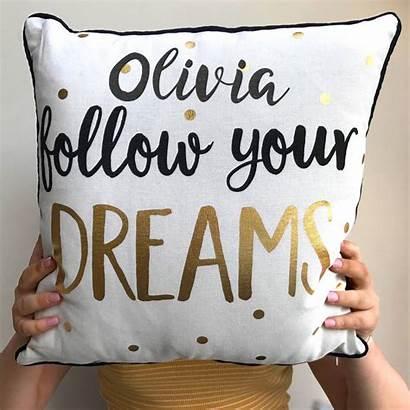 Dreams Follow Personalised Cushion Cushions Children Notonthehighstreet