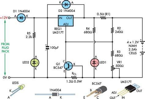 electronica diagramas circuitos cargador  baterias nimh de flote