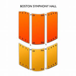 Seating Chart For Symphony Hall Boston Boston Symphony Hall Tickets Boston Symphony Hall