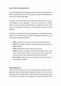 How To Write An Agreement Letter Good Proposal Letter