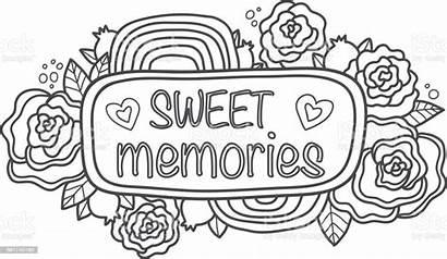 Scrapbook Printable Memories Doodle Sticker Sweet Summer