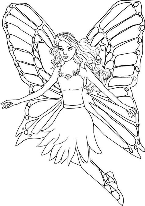 draw  fairy  barbie fairytopia world coloring pages  place  color