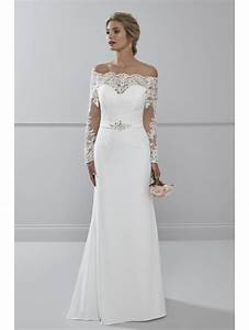 romantica lourdes soft crepe wedding dress with sleeves With shop designer wedding dresses