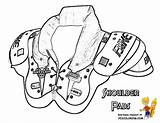 Football Coloring Pages Shoulder Pads Usa Yescoloring Gear Armour Under Nfl Shoe Boys Sport Sports Print Mega Players Game sketch template