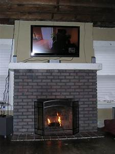 Paint, Over, Brick, Fireplace