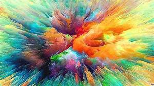 Wallpaper, Colorful, Abstract, Color, Correction, Burst