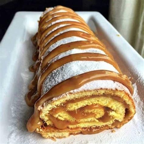 patisseries biscuit roule au caramel beurre salee de la
