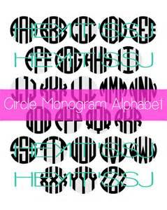 Circle Monogram Font Svg File